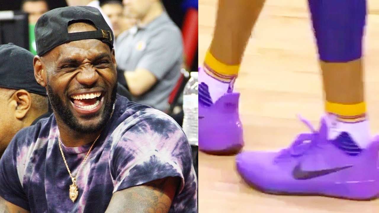 48ddb335789 LeBron James DISSES Lonzo Ball ZO2 Shoes After Wearing Kobes - YouTube