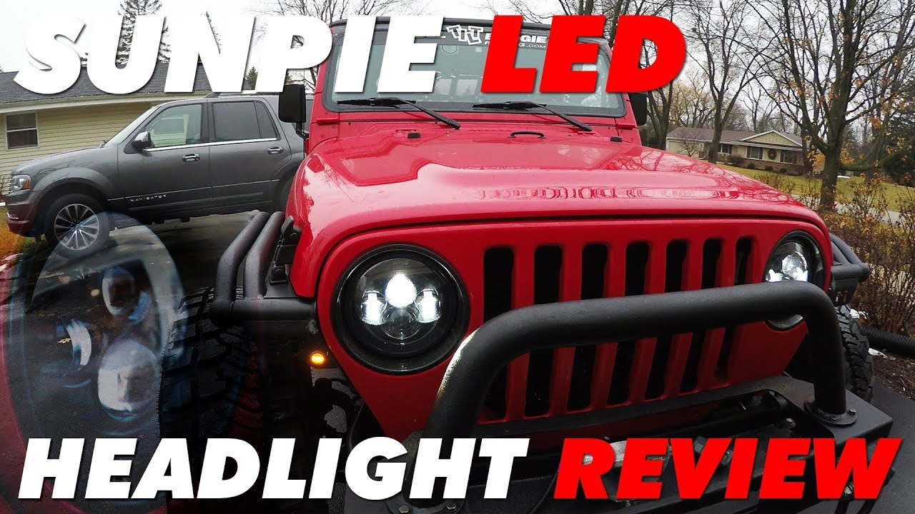 Best Jeep Wrangler LED Headlights | Sunpie LED Review - YouTube