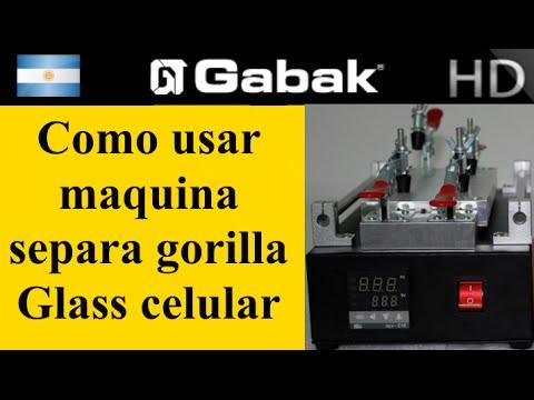 como usar la maquina separa vidrio gorilla glass de celulares y tabletas