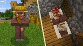 Nowa Inteligencja Wieśniaków! Mogą Spać! - Minecraft 1.14!