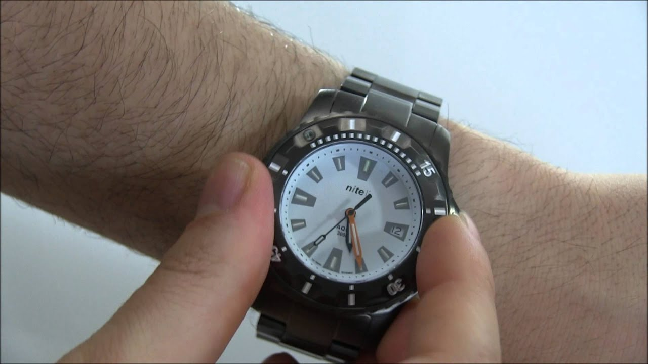 830ac6ba21d4 Nite Aqua Watch Review - YouTube