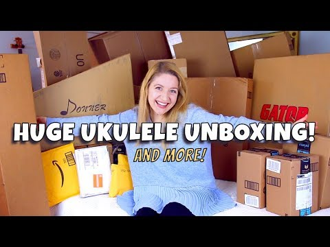 HUGE UNBOXING HAUL! (Ukuleles, Guitars, Tuners, Capos, Cases!)