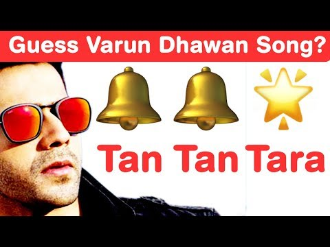 Varun Dhawan Songs Emoji Challenge! Guess Bollywood Songs