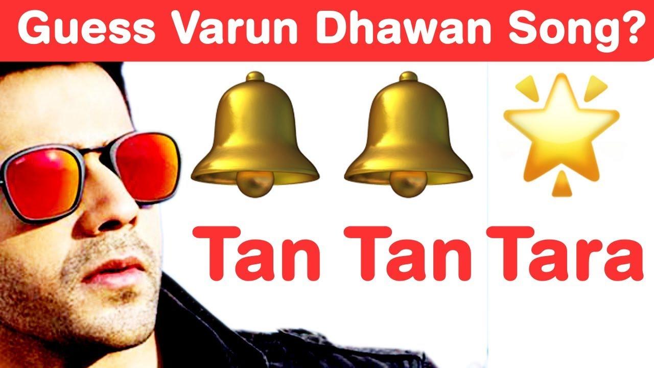 Varun Dhawan Songs Emoji Challenge! Guess Bollywood Songs