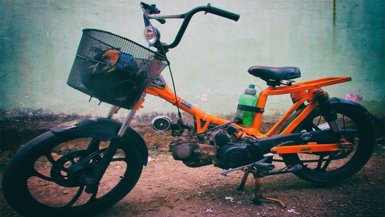 Motor Tiger Disulap Jadi Sepeda BMX Bermesin YouTube