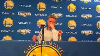 Steve Kerr Postgame Interview / Warriors vs Mavericks