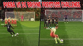 Paul POGBA vs. Kevin DE BRUYNE Freekick Challenge! - Fifa 20 Freistoß Ultimate Team
