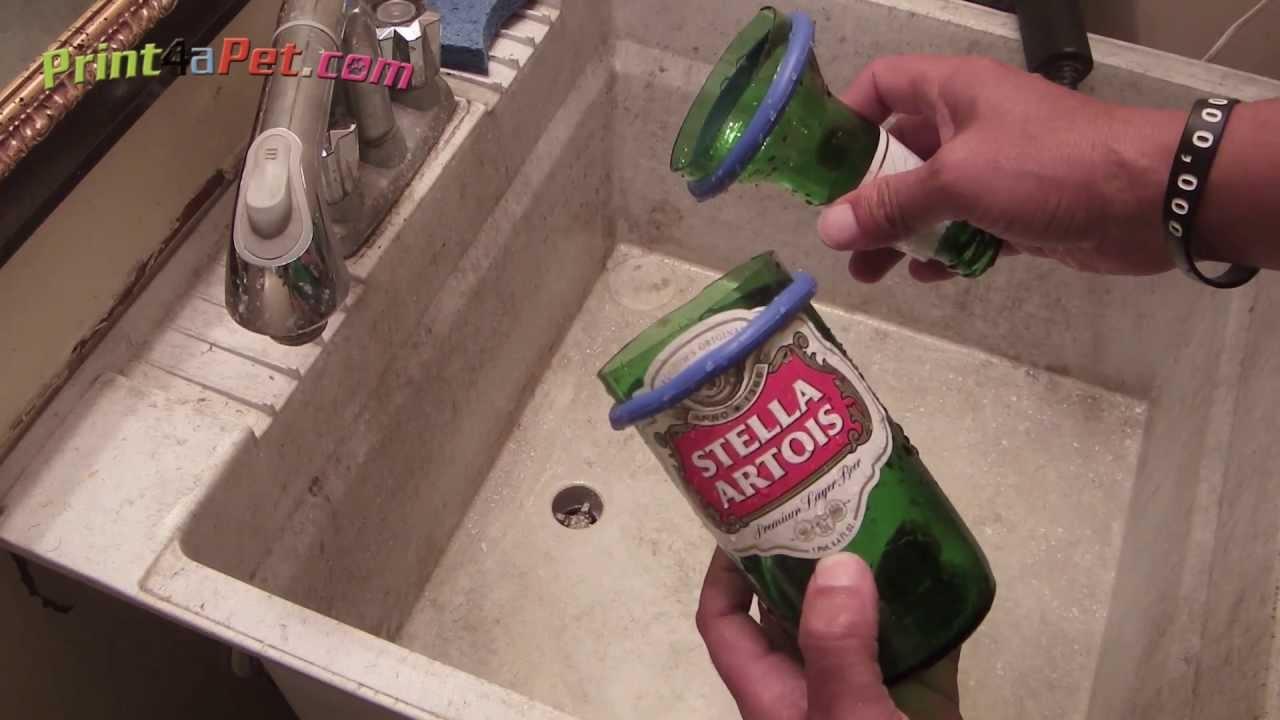 Diy bottle cutting separation tip for kinkajou bottle for Glass cutter to make glasses from bottles