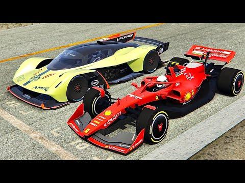 Ferrari F1 2021 vs Aston Martin AMR Pro - Monza