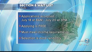 Section 8 waiting list to open on Kauai