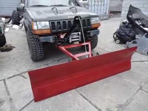 jeep zj jeep snow plow youtube. Black Bedroom Furniture Sets. Home Design Ideas