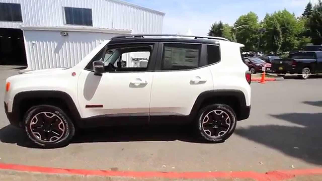 2015 Jeep Renegade Trailhawk Alpine White Fpb16455