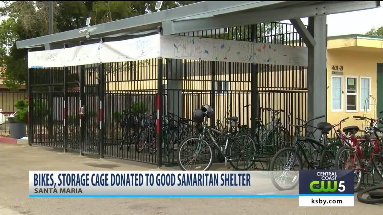 Great Bikes, Storage Cage Donated To Good Samaritan Shelter In Santa Maria
