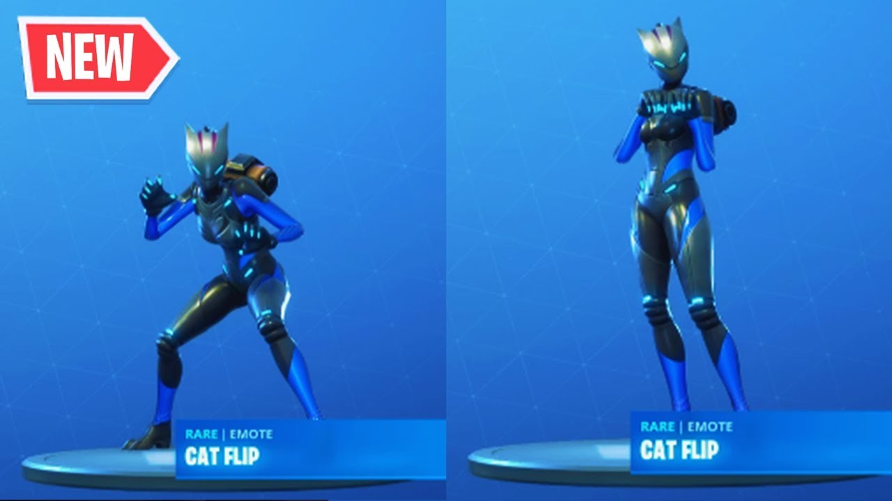 New Lynx Cat Flip Emote On All Skins Fortnite Season 7 Lynx