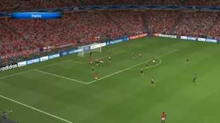Pro Evolution Soccer 2014 - Manchester United Vs At. Madrid [PC GAMEPLAY]
