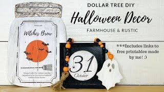👻 DOLLAR TREE DIY FARMHOUSE HALLOWEEN DECOR