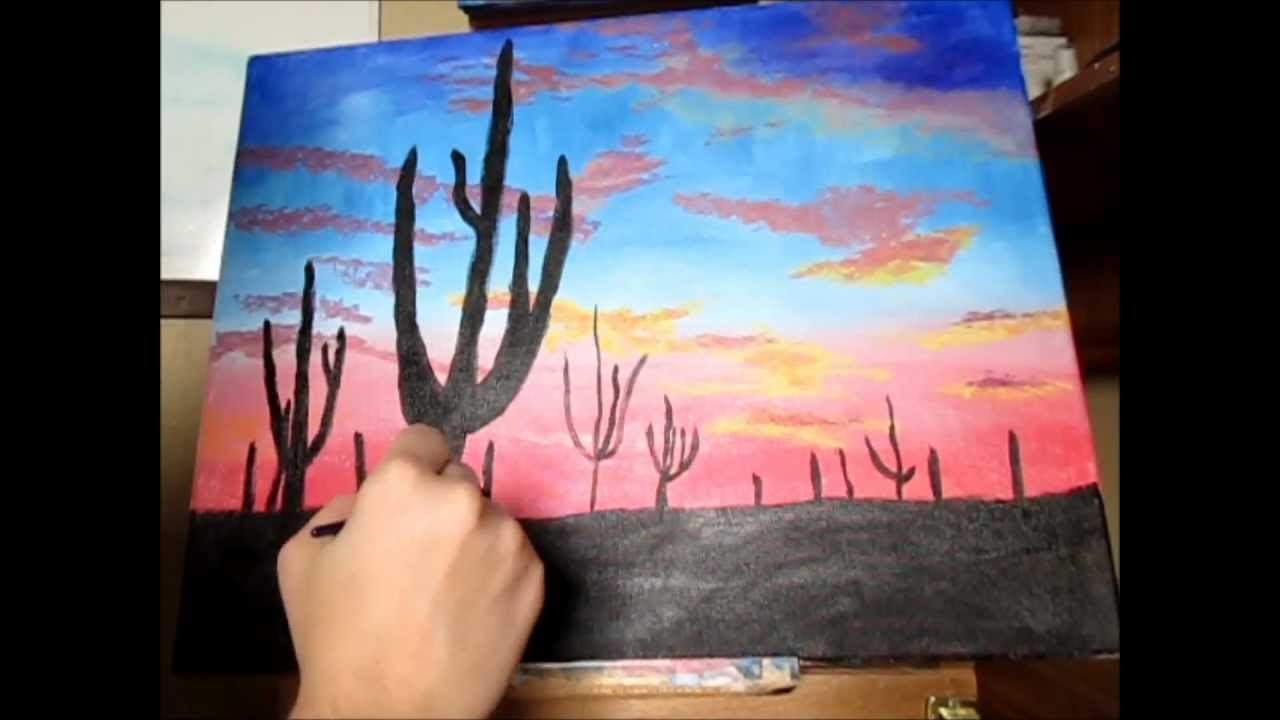 Desert Sunset A Speed Painting YouTube