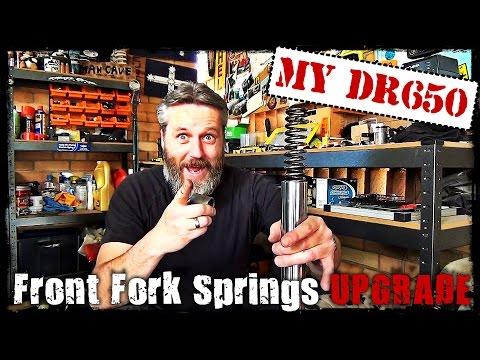 DR650 Front Fork Springs Upgrade