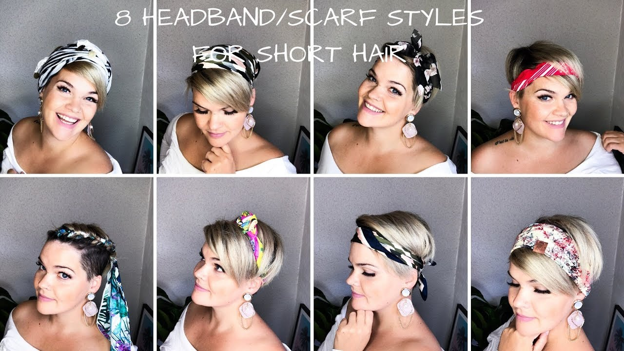8 ways to style short hair | headband, scarfs & bandanas