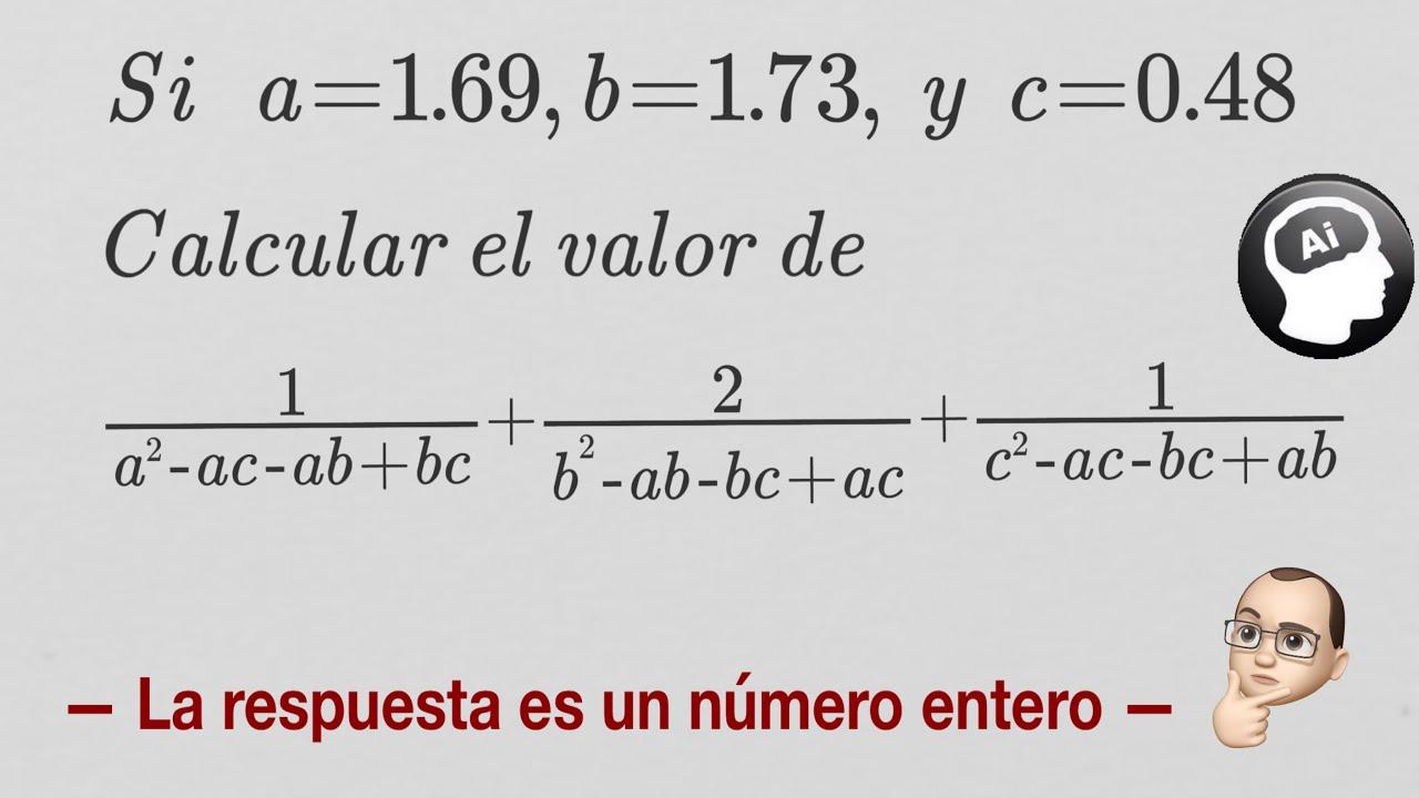 🤓 Puedes resolver este problema de examen de admisión | El resultado es un número entero 😱