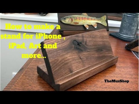 How to Make a Stand for an iPhone, Tablet, Art and More....(Easy)