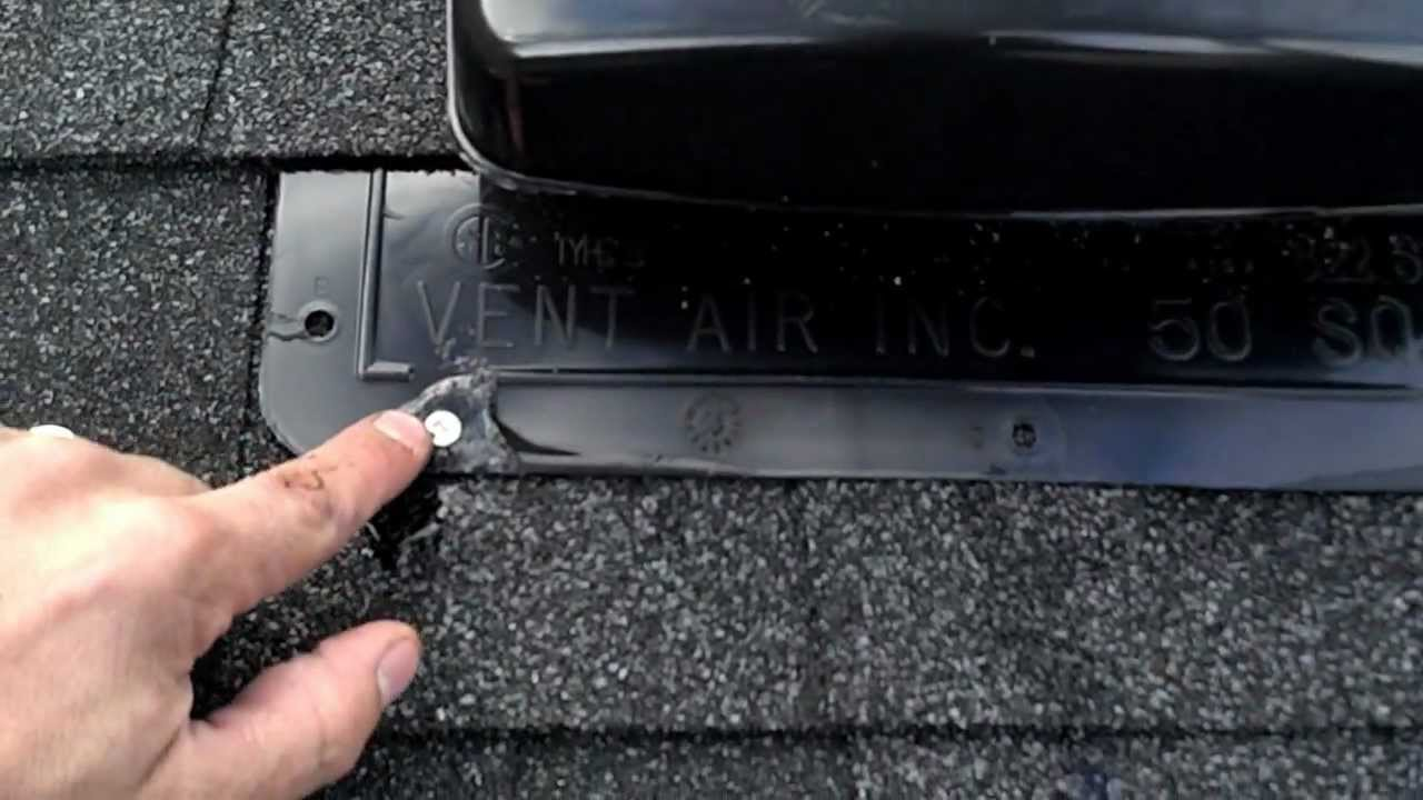 Improper Roof Vent Installation On New Roof YouTube - Installing roof vent for bathroom fan