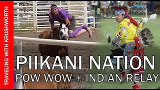 Indian Relay Horse Racing; Piikani Nation | First Nations Canada Pow Wow Dancing