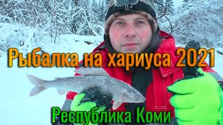 Рыбалка на ХАРИУСА Ловля хариуса зимой 2021 на таёжной реке Рыбалка в Коми Чуть не утащил удочку