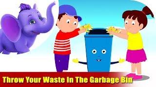 Umwelt-Lieder für Kids - Werfen Sie Ihren Abfall in die Mülltonne