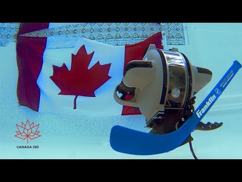 Celebrating Canada 150 - Underwater Robots Playing Hockey