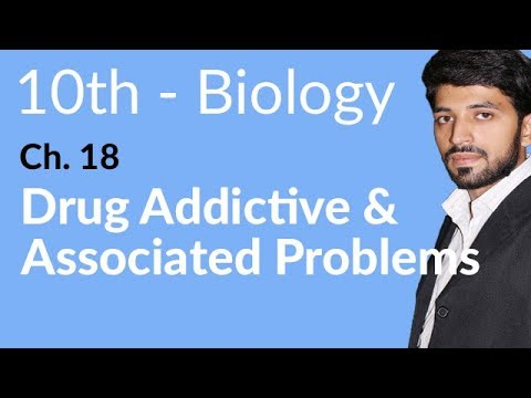 10th Class Biology, Drug Addiction and Associated Problems - Biology Chapter 18 - Biology 10th Class