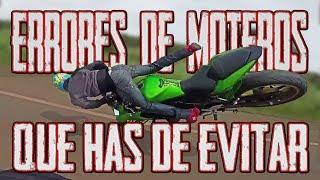 ERRORES DE MOTEROS EN MOTO + COMO EVITAR UN ACCIDENTE O CAÍDAS !!!