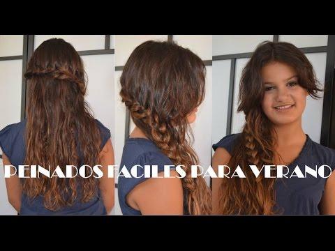 Peinados fáciles, rápidos y bonitos para jóvenes, verano, clase 22