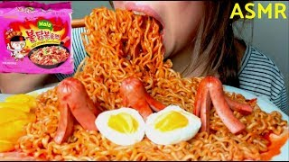 *No Talking* ASMR Samyang 4x MALA Spicy FIRE 🔥Noodles Challenge 먹방 Eating Sounds