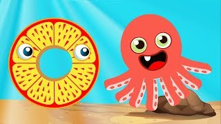 ABC Phonics with Animals | OCTOPUS | Letter O