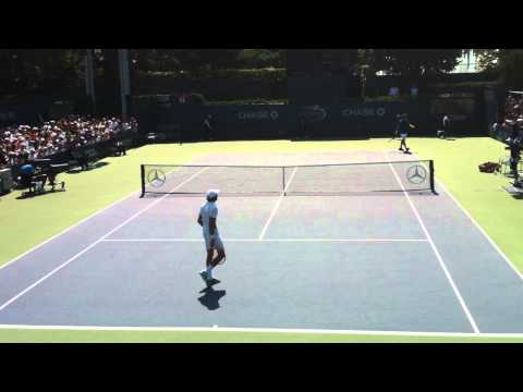 Chardy Pounds An Ace Out Wide