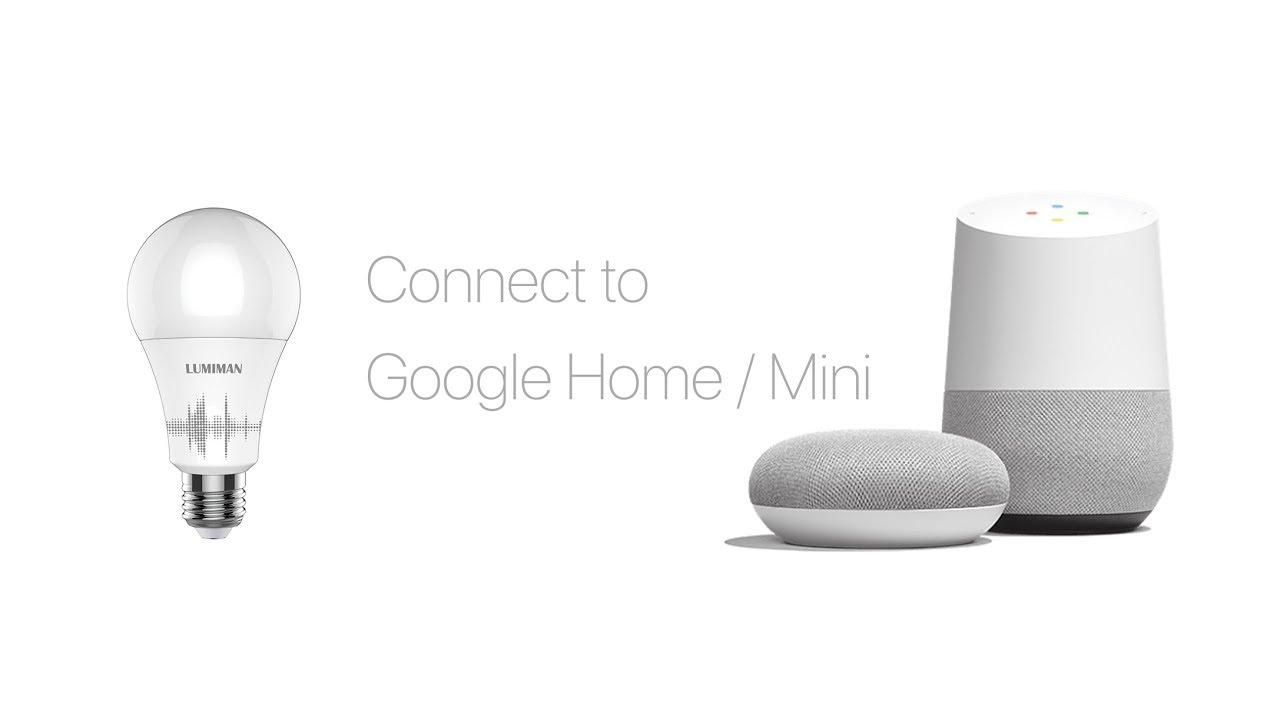 connect lumiman smart light bulb to google home youtube. Black Bedroom Furniture Sets. Home Design Ideas