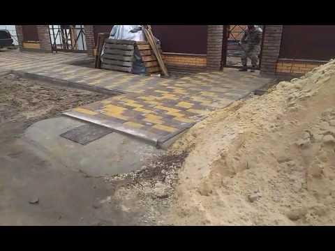 Укладка тротуарной плитки старый город - YouTube