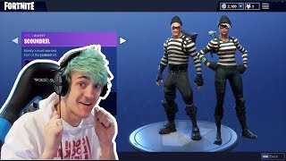 NINJA REACTS TO *NEW* SCOUNDREL AND RAPSCALLION SKINS IN FORTNITE BATTLE ROAYLE
