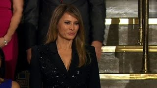 Melania Trump arrives at Congress chamber
