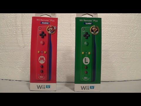 Mario & Luigi Wii Remote Plus Controllers Unboxing