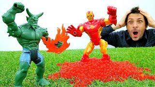 Железный Человек в ловушке Зеленого Гоблина -  Игры для мальчиков