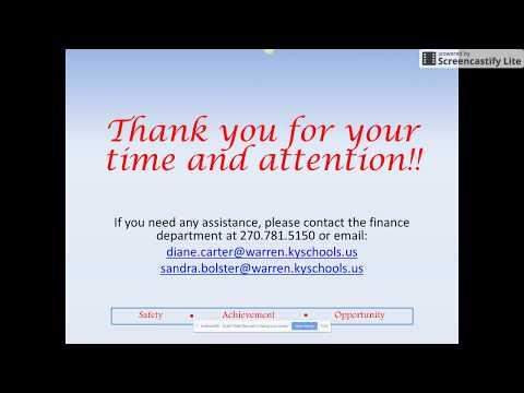 WCPS Finance Video Training Series - Out of District Travel Reimbursement Form