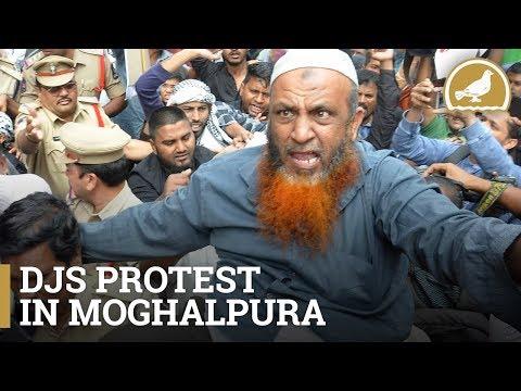 DJS activists hold protest against demolition of Babri Masjid