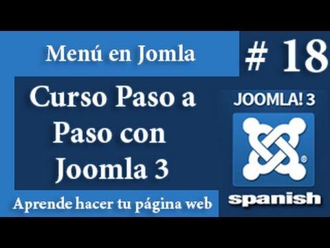 Los menu en Joomla