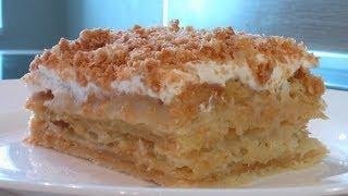 Слоеное пирожное с заварным кремом видео рецепт. Книга о вкусной и здоровой пище