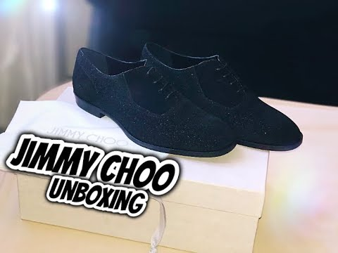 JIMMY CHOO GLITTER SUEDE MEN'S DRESS SHOES | UNBOXING