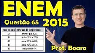 ENEM 2015 - QUESTÃO 65 - PROVA AZUL - FISICA   Prof  Marcelo Boaro