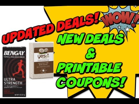 🔥  NEW DEAL UPDATES | NEW PRINTABLE COUPONS & REBATES!