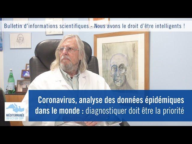 Coronavirus, analyse des données épidémiques dans le monde : diagnostiquer doit être la priorité